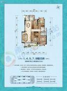 国厦云湾4室2厅2卫135平方米户型图