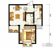 山水泉城1室1厅1卫58平方米户型图