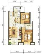 兰石豪布斯卡2室2厅1卫91平方米户型图