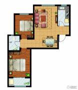 万国园奥洲领域2室2厅1卫97平方米户型图