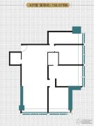 富田财富广场3室2厅2卫0平方米户型图