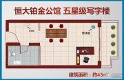 信阳恒大名都1室0厅1卫43平方米户型图