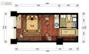 CBC时代大观1室1厅1卫45平方米户型图