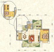 世俊国际1室2厅1卫72平方米户型图