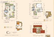 奥园城市天地3室2厅2卫89平方米户型图
