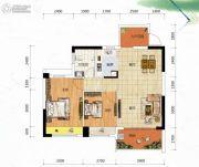 冠亚・御龙湾2室2厅1卫88平方米户型图