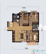 奥山世纪城3室2厅1卫89平方米户型图