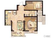 嘉盛维纳阳光2室2厅1卫80平方米户型图