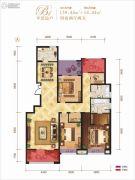 龙记玖玺4室2厅2卫139平方米户型图