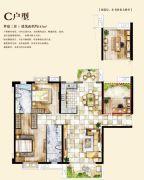 中骏・蓝湾香郡3室2厅2卫0平方米户型图
