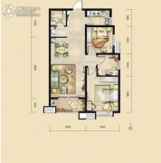 荣民宫园中央3室2厅1卫120平方米户型图