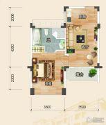 恩平泉林黄金小镇1室1厅1卫58--59平方米户型图