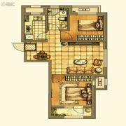 银亿格兰郡2室2厅1卫74平方米户型图