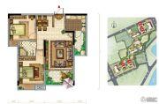美景嘉园2室2厅1卫85平方米户型图