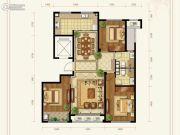 绿城百合花园紫薇园二期3室2厅2卫144平方米户型图