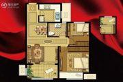 书香华府2室2厅1卫74平方米户型图