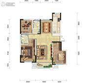 东城人家3室2厅2卫128平方米户型图