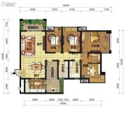 中交锦湾一期4室2厅2卫143平方米户型图