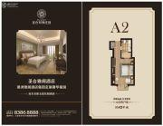 圣合玫瑰庄园・疗养酒店1室1厅1卫43平方米户型图