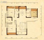 公园华府3室2厅2卫115平方米户型图
