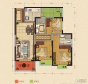 中海锦苑3室2厅2卫106平方米户型图