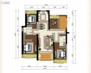 龙斗壹号・海岸城4室2厅2卫144平方米户型图