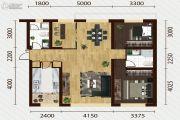又一城・尚座3室2厅2卫123平方米户型图