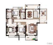 蓝惠首府3室2厅2卫136平方米户型图