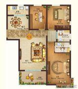 燕港美域3室2厅2卫116平方米户型图