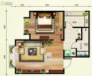 欢乐颂1室1厅1卫56平方米户型图