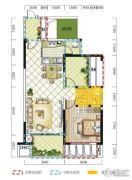 远达春天里3室2厅1卫78平方米户型图