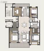 万科美景世�d4室2厅2卫168平方米户型图