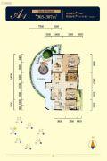 国博新城4室2厅2卫303--307平方米户型图