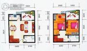 中苑春天2室2厅1卫0平方米户型图