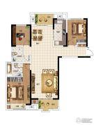 华启金悦府3室2厅2卫130平方米户型图