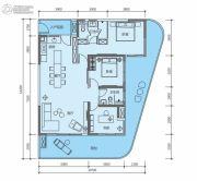 华润小径湾二期3室2厅2卫146平方米户型图