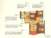 绿都塞纳春天4室2厅2卫142平方米户型图