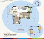 汇乐国际3室2厅2卫95平方米户型图