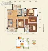 阳光新城4室2厅2卫128平方米户型图