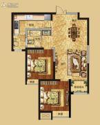 红星国际广场2室2厅1卫95平方米户型图