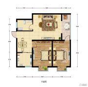 华建新城2室2厅1卫81平方米户型图