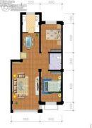 紫金城三期2室2厅1卫0平方米户型图