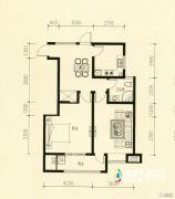 美林・尚东一号2室2厅1卫90平方米户型图