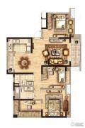 丽都�Z庭4室2厅2卫119平方米户型图