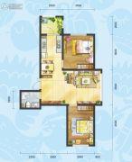理想04512室2厅1卫0平方米户型图