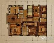 西山壹号院3室2厅3卫320平方米户型图