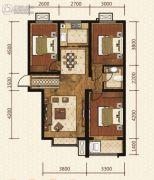 岸上澜湾3室2厅1卫110平方米户型图