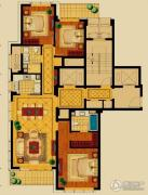 新华园3室2厅2卫156平方米户型图
