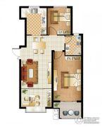 逸城山色3室2厅1卫89平方米户型图