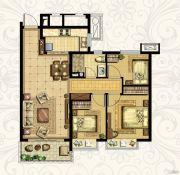 恒大御景湾3室2厅1卫95平方米户型图
